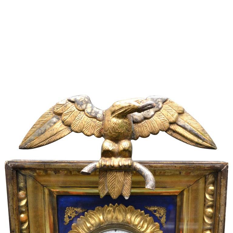 Bronze Early 19th Century Austrian Biedermeier Wall Clock For Sale
