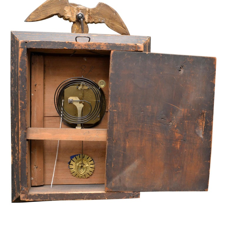 Early 19th Century Austrian Biedermeier Wall Clock For Sale 1