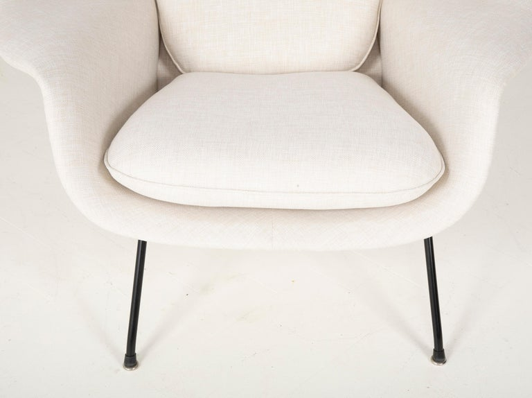Steel Early Womb Chair Designed for Eero Saarinen For Sale