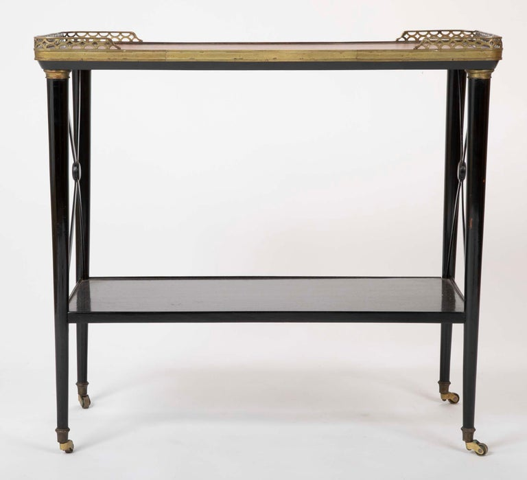 Neoclassical Ebonized Etagere Attributed to Maison Jansen For Sale