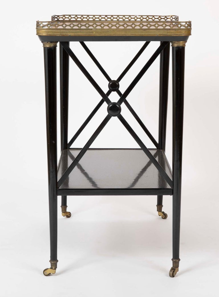 Mid-20th Century Ebonized Etagere Attributed to Maison Jansen For Sale