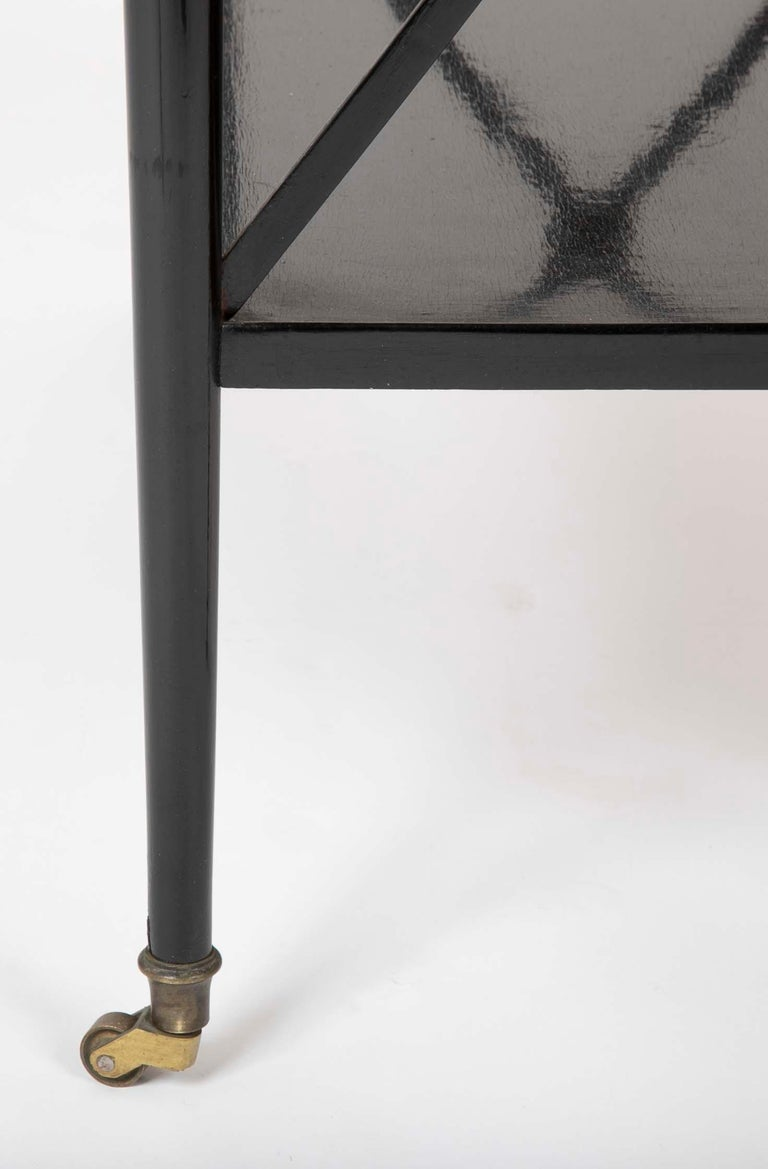 Ebonized Etagere Attributed to Maison Jansen For Sale 1
