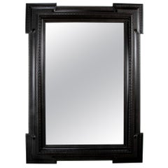 Ebonized Flemish Baroque Style Mirror