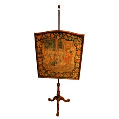 English 18th Century Chippendale Pole Screen George III Period