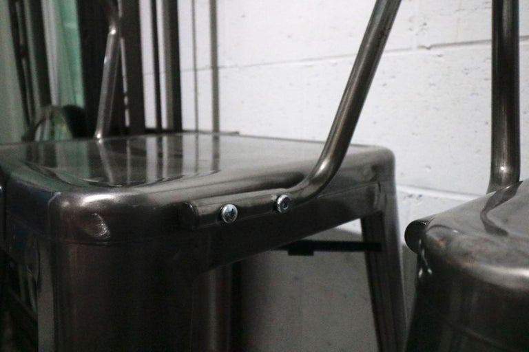 Fabulous Foursome Of Vintage Industrial Metal Bar Stools