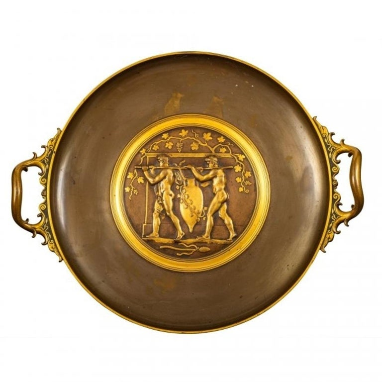 Late 19th Century A Fantastic Ferdinand Levillain Tazza For Sale