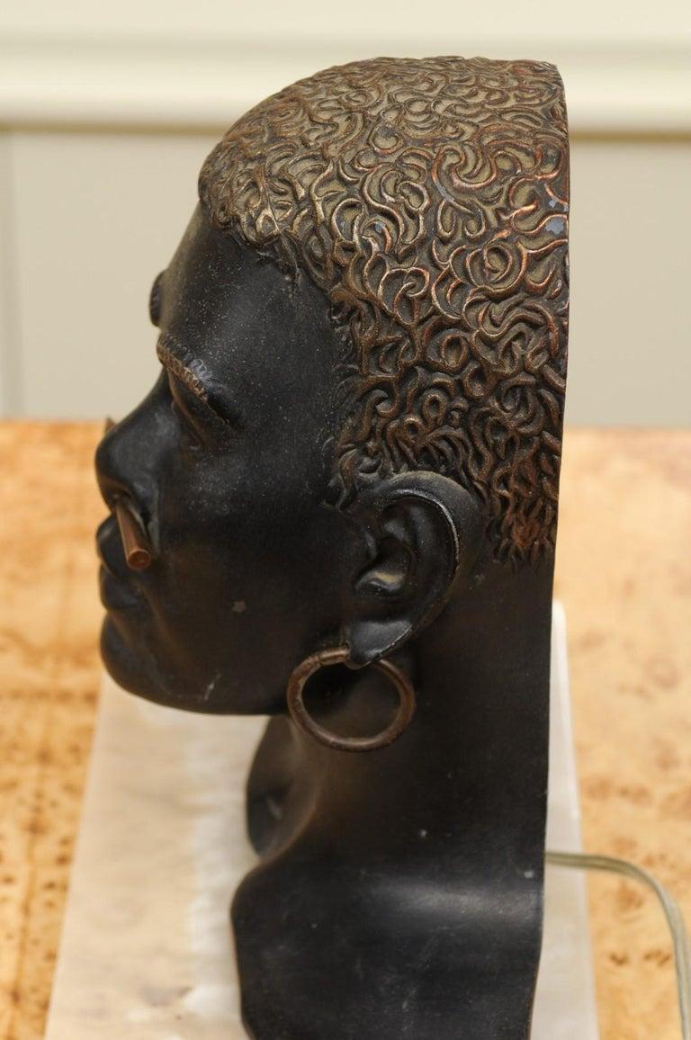 Fantastic Pair of Art Deco Bronze Tribal Sculptures, circa 1935 For Sale 6