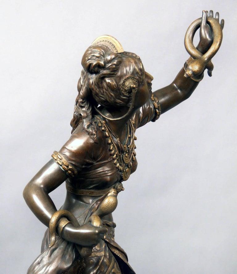 Belle Époque Fantastic Quality Late 19th Century Bronze Sculpture of Cleopatra by Henri Plé For Sale
