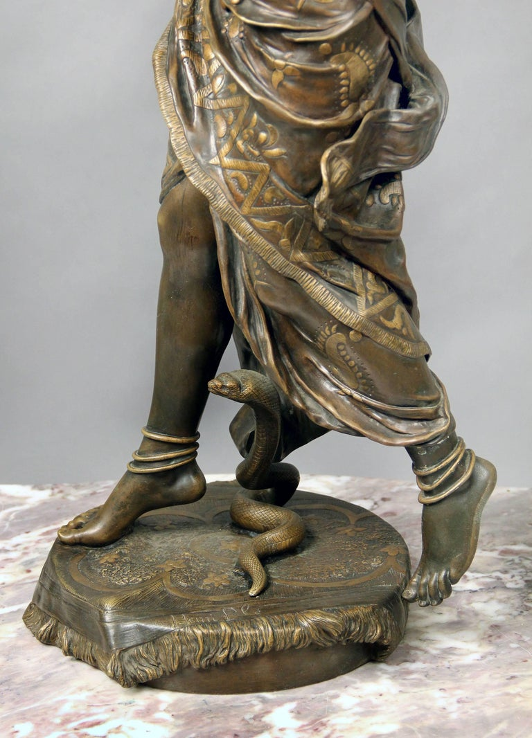 French Fantastic Quality Late 19th Century Bronze Sculpture of Cleopatra by Henri Plé For Sale