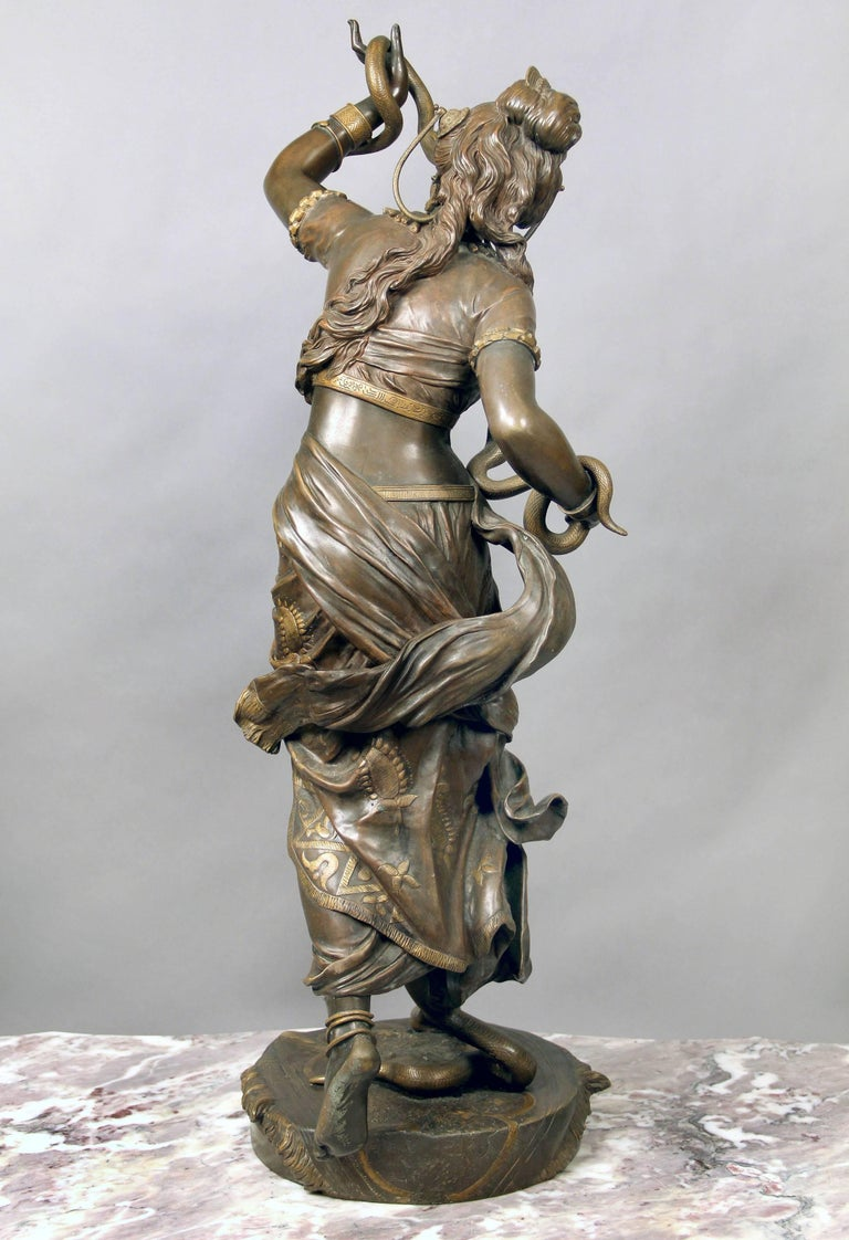 Fantastic Quality Late 19th Century Bronze Sculpture of Cleopatra by Henri Plé In Good Condition For Sale In New York, NY