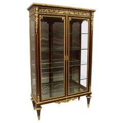 Fantastic Quality Late 19th Century Gilt Bronze Mounted Vitrine
