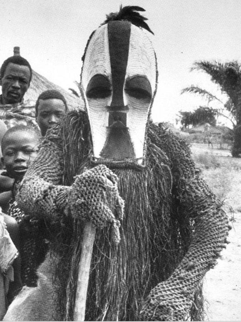 Female Songye Kifwebe Hand Carved Ceremonial Mask 4