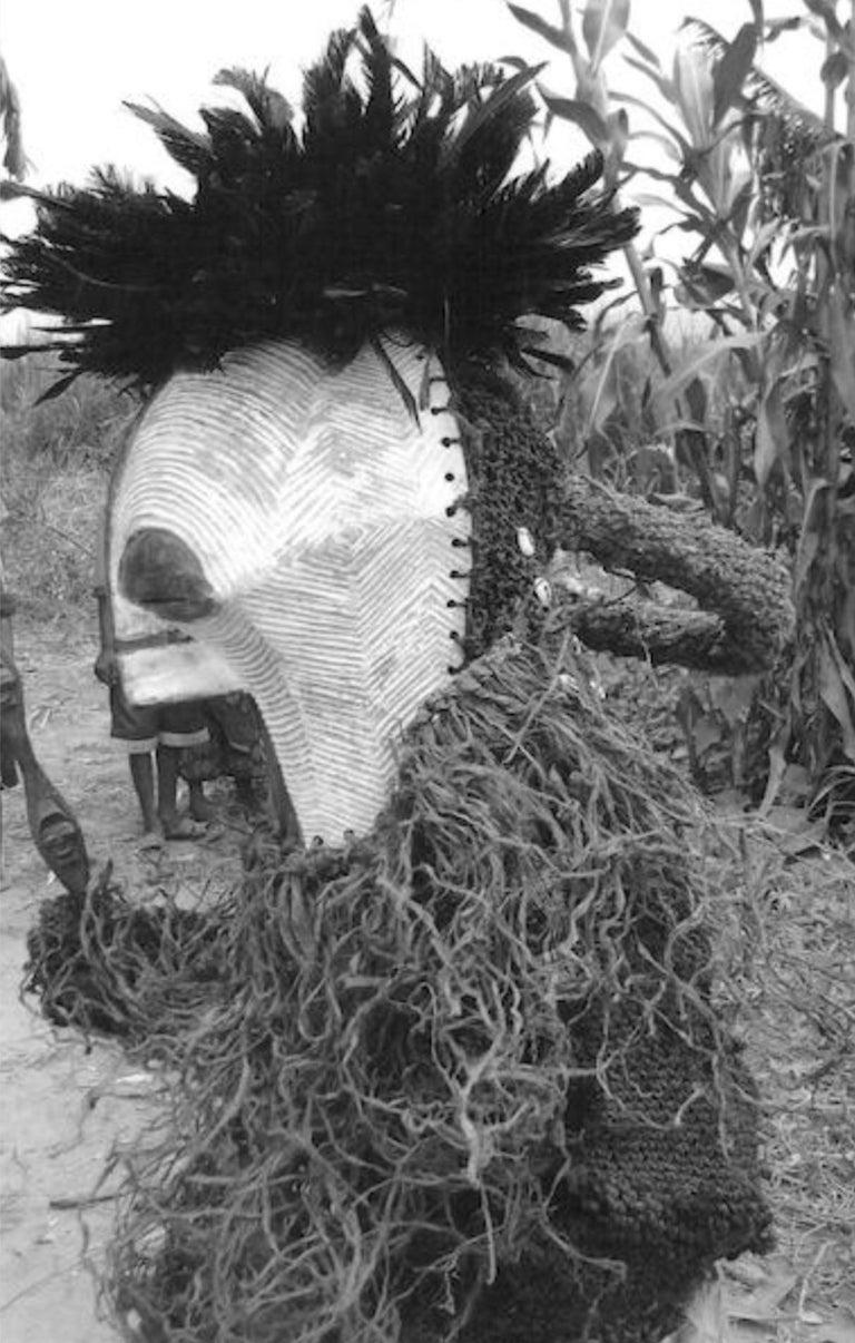 Female Songye Kifwebe Hand Carved Ceremonial Mask 5