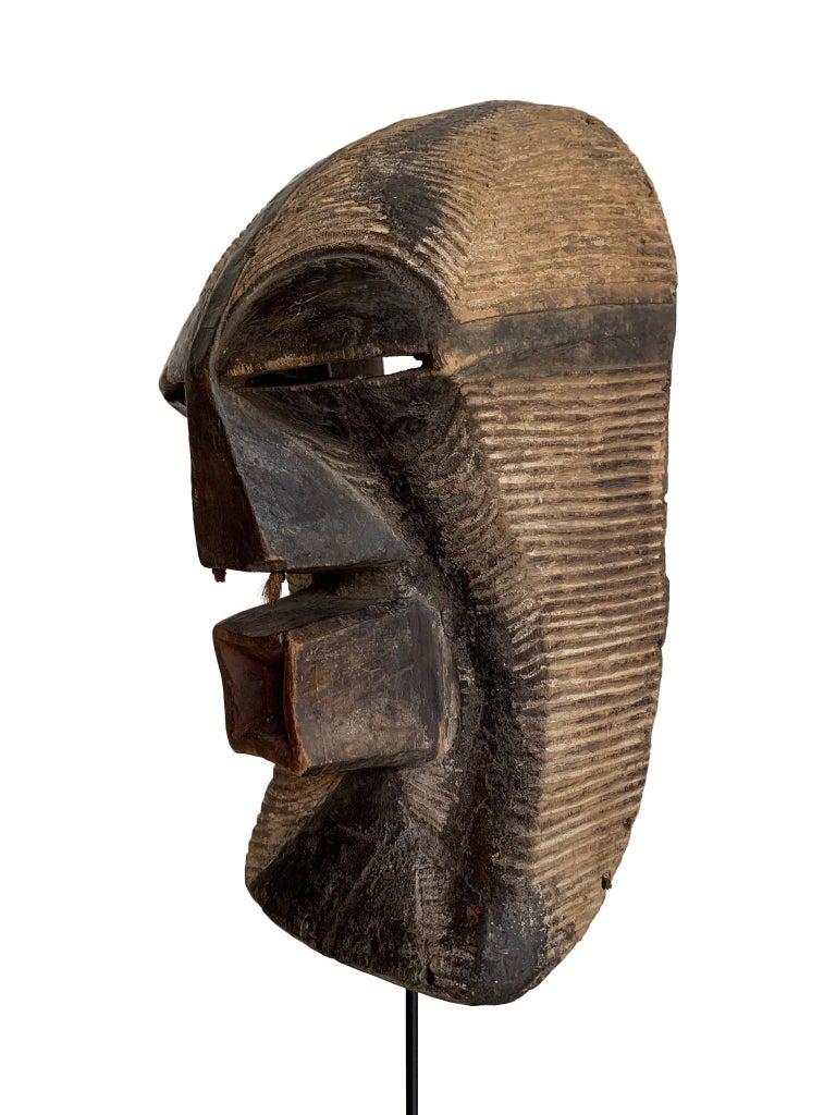Tribal Female Songye Kifwebe Hand Carved Ceremonial Mask