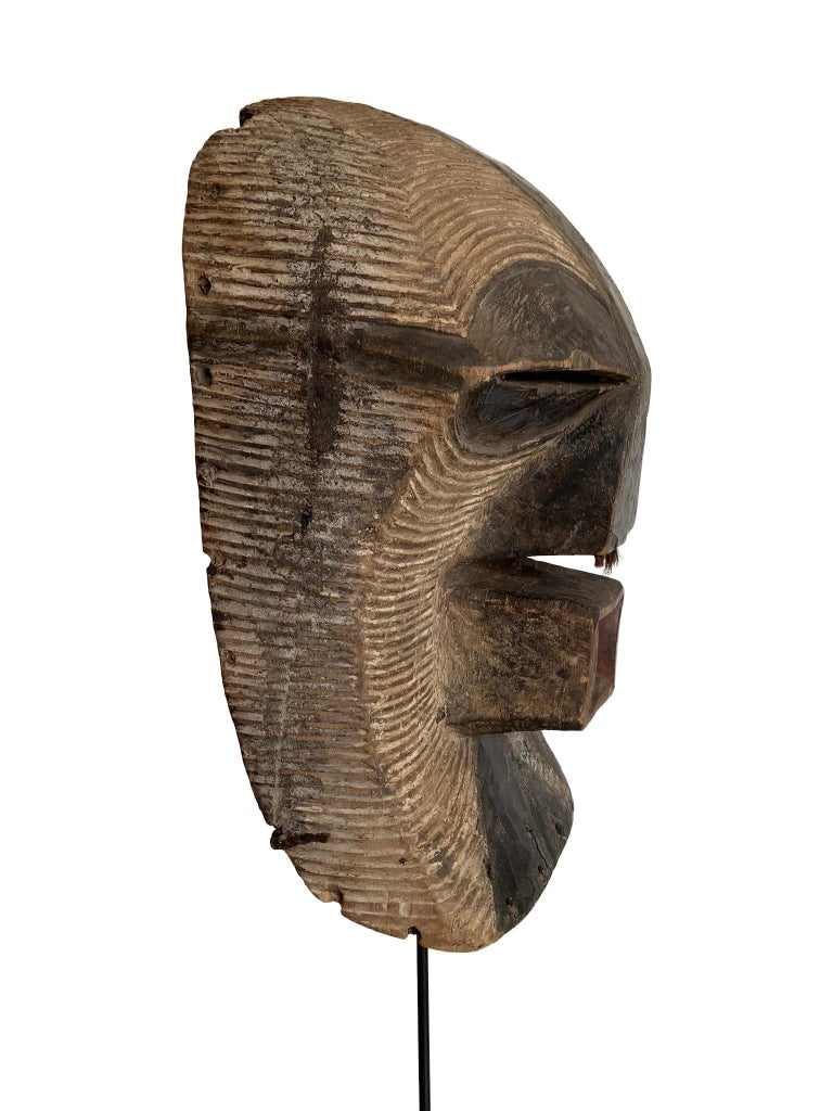 Congolese Female Songye Kifwebe Hand Carved Ceremonial Mask