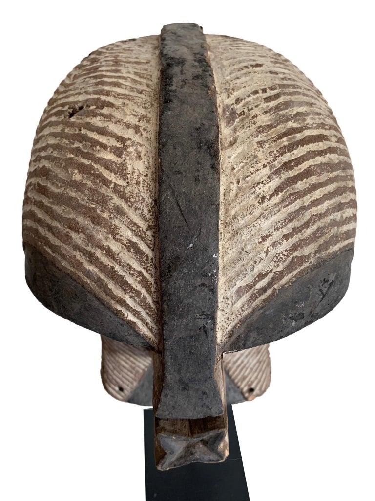 Wood Female Songye Kifwebe Hand Carved Ceremonial Mask