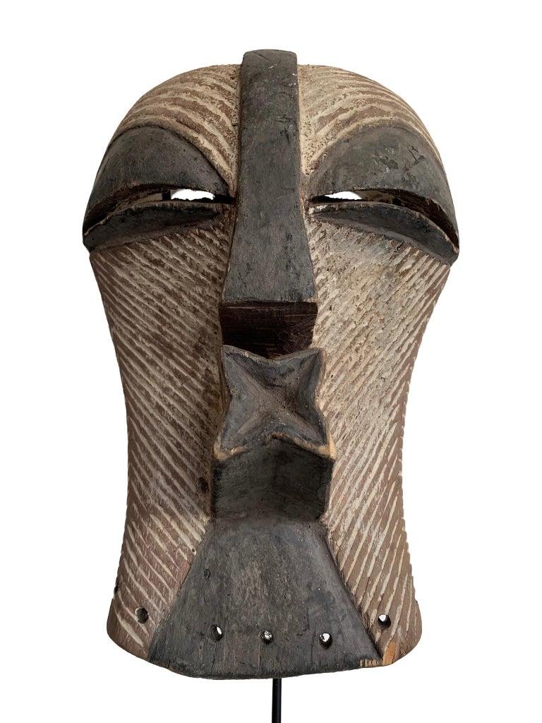 Female Songye Kifwebe Hand Carved Ceremonial Mask 1