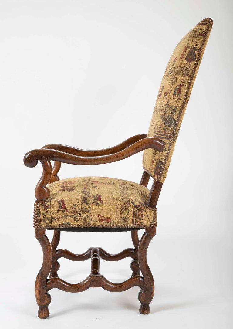 Fenh Louis XIII Style Walnut Armchair For Sale 5