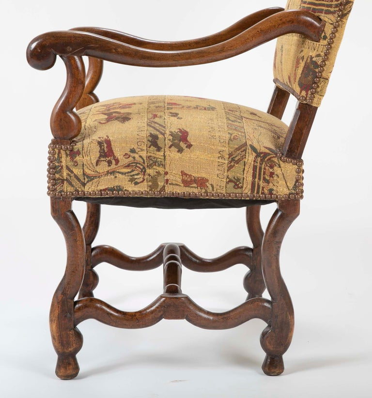 Fenh Louis XIII Style Walnut Armchair For Sale 6