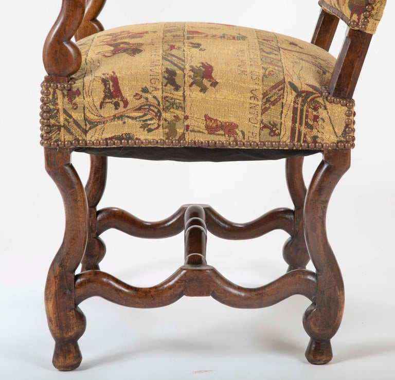 Fenh Louis XIII Style Walnut Armchair For Sale 7