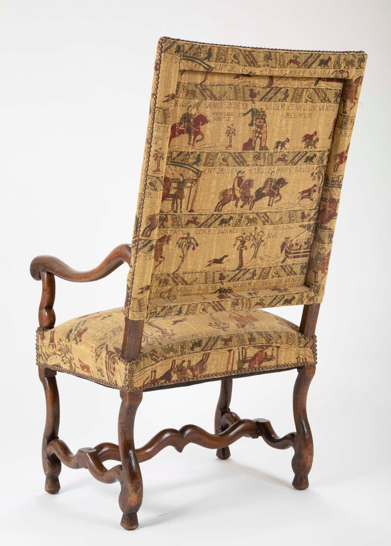 Fenh Louis XIII Style Walnut Armchair For Sale 10