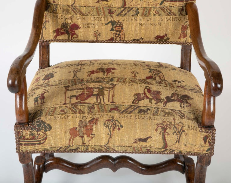 19th Century Fenh Louis XIII Style Walnut Armchair For Sale