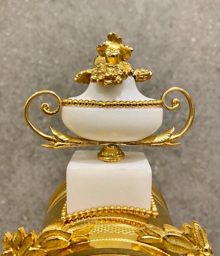 Ferdinand Berthoud. Louis XVI Ormolu Mounted Marble 3 Piece Clock Set 1770 For Sale 5
