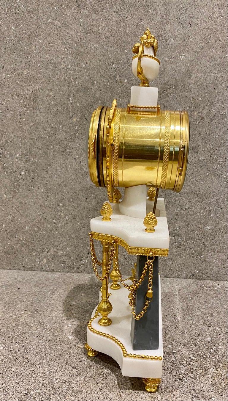 Ferdinand Berthoud. Louis XVI Ormolu Mounted Marble 3 Piece Clock Set 1770 For Sale 2