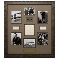 WWI and WWII Air Force Captains, Original Signatures