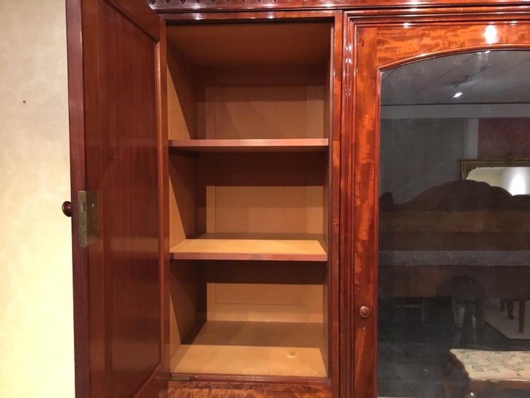 Figured Mahogany Victorian Period Wardrobe by Holland & Sons of London For Sale 6