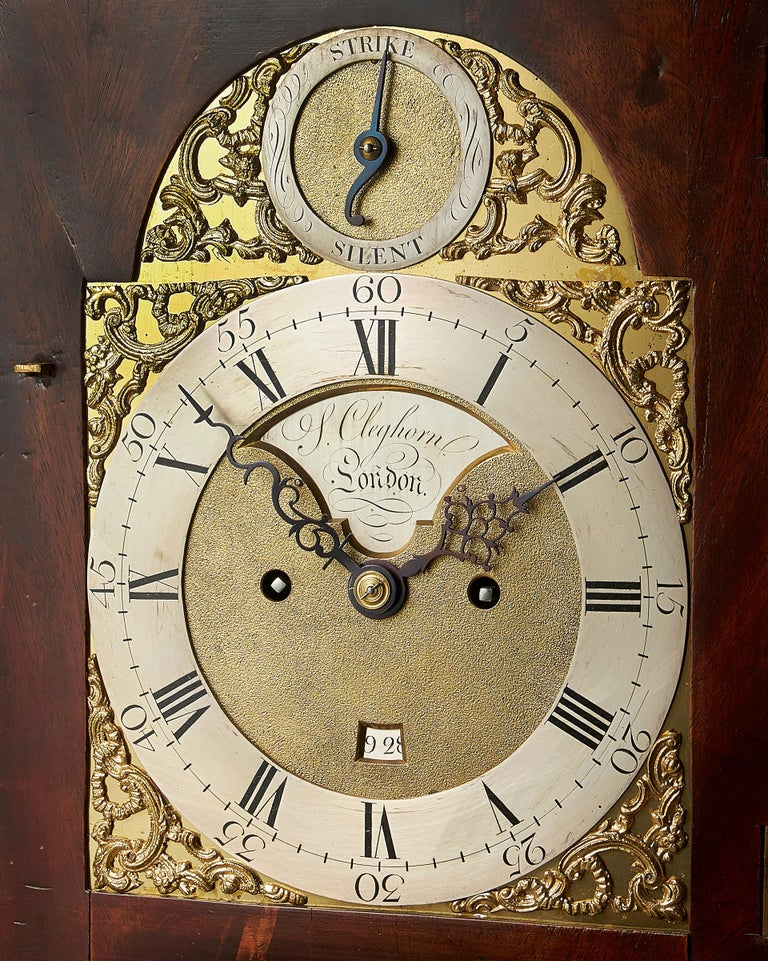 Fine 18th Century Mahogany Eight Day Table Clock with Trip Quarter Repeat In Good Condition For Sale In Oxfordshire, United Kingdom