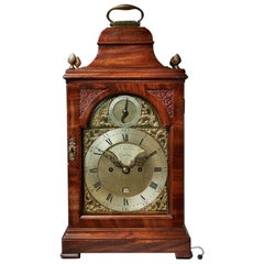 Fine 18th Century Mahogany Eight Day Table Clock with Trip Quarter Repeat