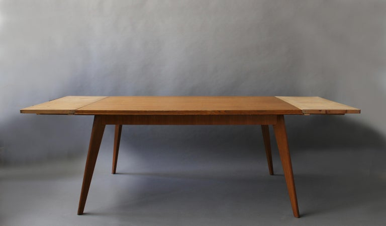 Mid-Century Modern A Fine 1950s Compass Oak Table For Sale