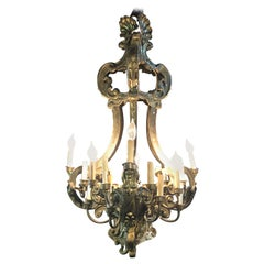Fine 19th Century French Baroque Style Metal Chandelier