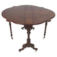 Fine 19th Century Walnut Large Size Sutherland Table