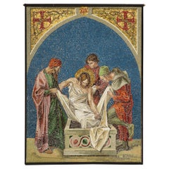 "Fine and Large Italian Micromosaic Panel of ""Jesus Being Laid to Rest"""