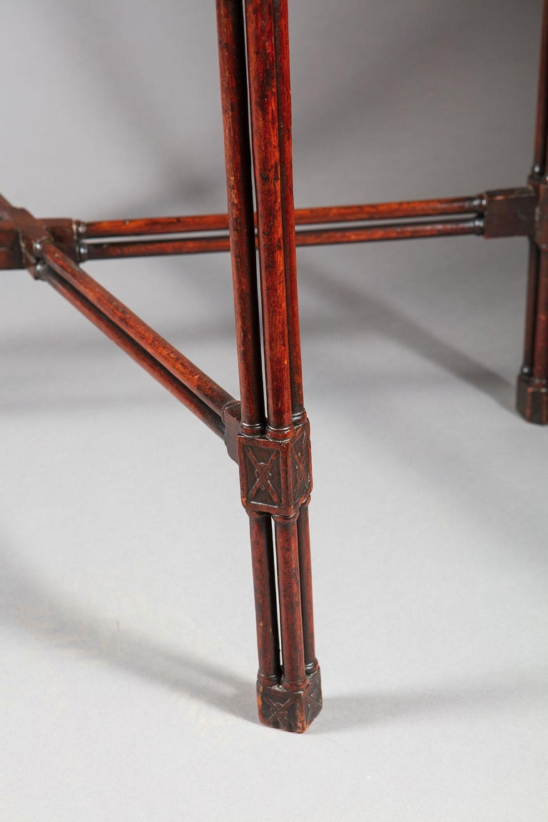 Fine and Rare George III Chinese Chippendale Mahogany Silver Table In Good Condition For Sale In London, by appointment only