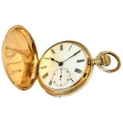 Fine Antique 18 Karat Gold Full Hunter Quarter Repeating Pocket Watch