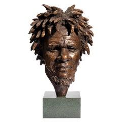 Fine Bronze Bust of 'Dougie' by Vivian Mallock