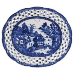 Fine Chinese Export Blue and White Dish, circa 1775