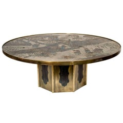 Fine Chinoiserie Philip and Kelvin Laverne Ethed Bronze Circular Coffee Table