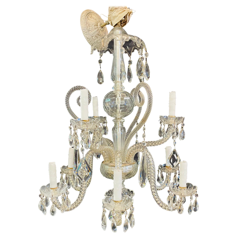 Fine Cut Crystal Venetian Style Chandelier