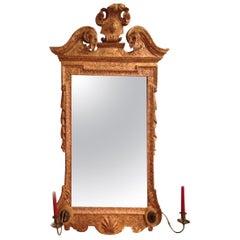 Fine Early 18th Century George II Period Gilt Gesso Mirror