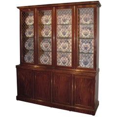 Fine Early 19th Century Regency Period Mahogany Display Bookcase
