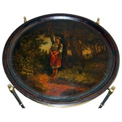 A Fine Early Russian Tray on Stand