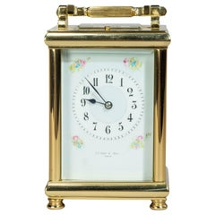 Fine Early 20th Century French Brass Carriage Clock