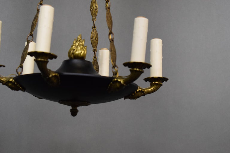 Fine and Elegant Empire Style Chandelier, France, circa 1910, 6 Lights For Sale 6
