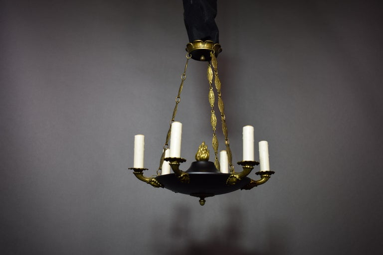 Fine and Elegant Empire Style Chandelier, France, circa 1910, 6 Lights In Good Condition For Sale In Atlanta, GA