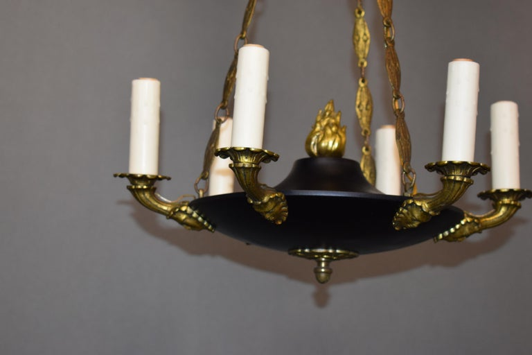 Early 20th Century Fine and Elegant Empire Style Chandelier, France, circa 1910, 6 Lights For Sale