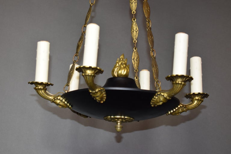 Fine and Elegant Empire Style Chandelier, France, circa 1910, 6 Lights For Sale 3